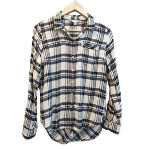 Lucky Brand Bungalow Button Up Plaid Top S